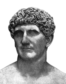 Bust of Mark Antony in Vatican City