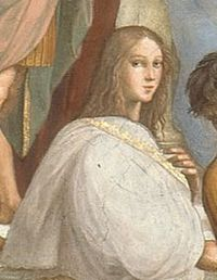 "Hypatia from the ""The School of Athens"" by Raphael"