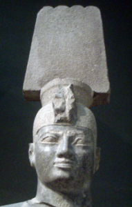Stone carving of Kushite Pharaoh Aspelta from the Napata period