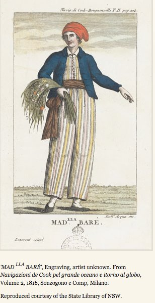 Illustration of Jeanne Baret disguised as a boy