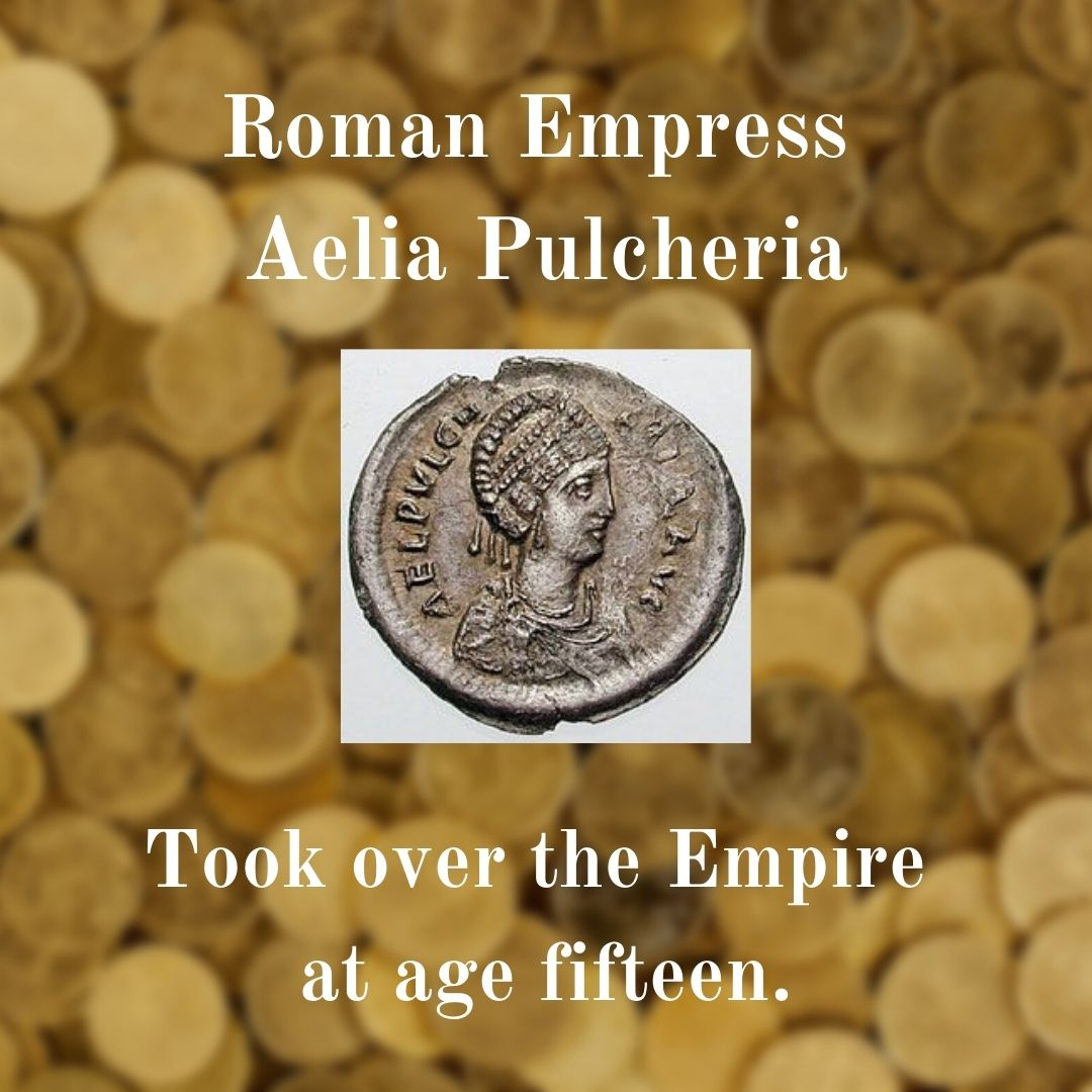 coin showing image of Empress Aelia Pulcheria