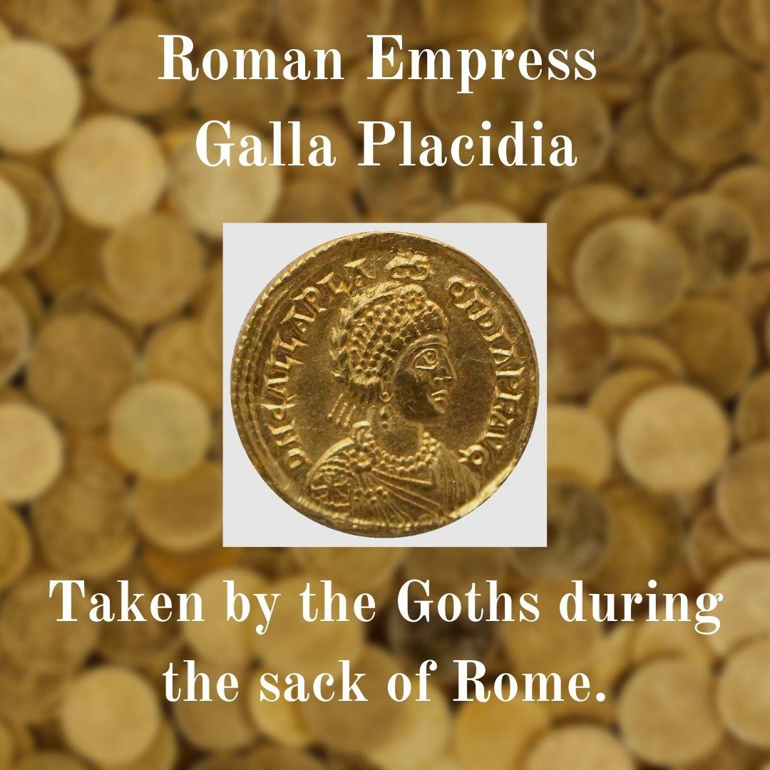 Coin image of Empress Galla Placidia